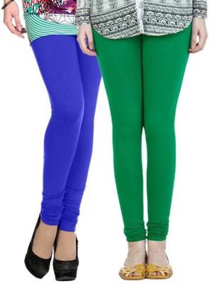 m&j Women's Green, Blue Leggings