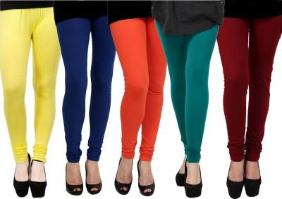 Kjaggs Women's Yellow, Green, Orange, Blue, Maroon Leggings
