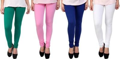 Legemat Girl,s Green, Pink, Blue, White Leggings