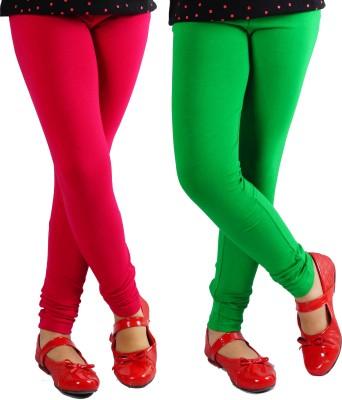 Naughty Ninos Girl's Maroon, Green Leggings