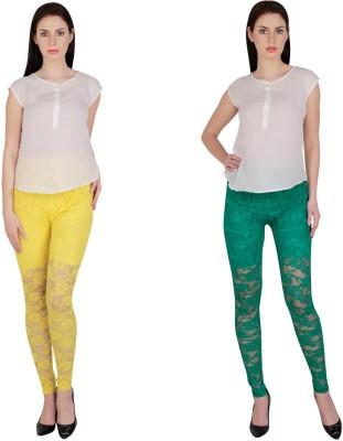 Simrit Women's Yellow, Green Leggings