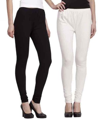 umesh fashion Women's White, Black Leggings