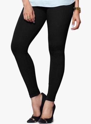 V Brown Women's Black Leggings