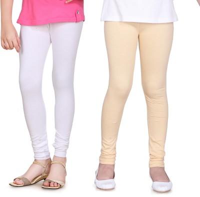 Sini Mini Girl's White, Beige Leggings
