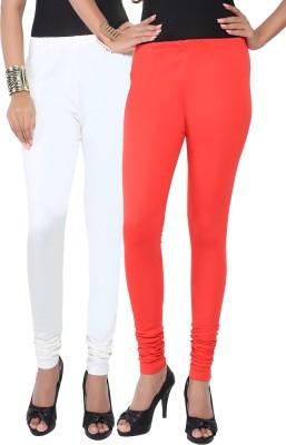 Fascino Women's White, Red Leggings