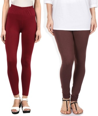 Sampoorna Collection Women's Brown, Maroon Leggings