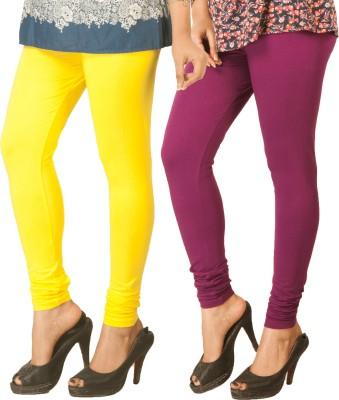 Berries Women's Yellow, Purple Leggings