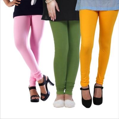 Melisa Women's Pink, Green, Yellow Leggings