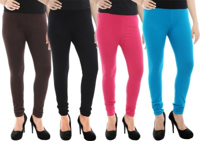Paulzi Women's Brown, Black, Pink, Blue Leggings