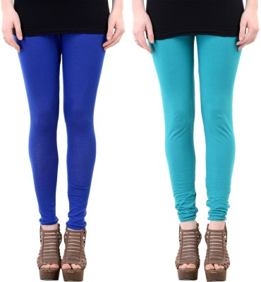 Mynte Women's Dark Blue, Blue Leggings