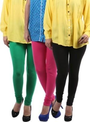 Lavennder Women's Black, Green, Pink Leggings
