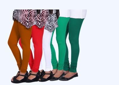 CHIGGY WIGGY Women,s Red, Orange, White, Green, Dark Green Leggings