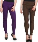 FIFO Women's Purple, Brown Jeggings (Pac...
