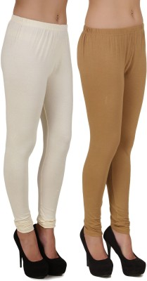 Stylishbae Women's White, Beige Leggings