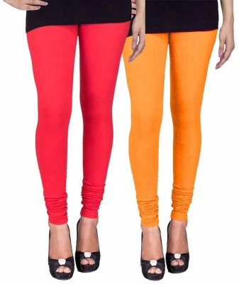 Ayesha Fashion Women's Red, Yellow Leggings