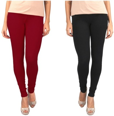 Sampoorna Collection Women's Black, Maroon Leggings