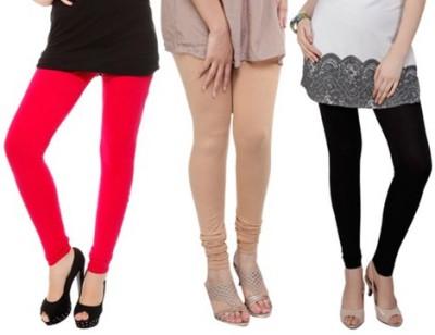 Prekrasna Women,s Red, Gold, Black Leggings