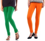 StudioRavel Women's Green, Orange Leggin...
