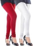 Addline Women's Red, White Leggings (Pac...