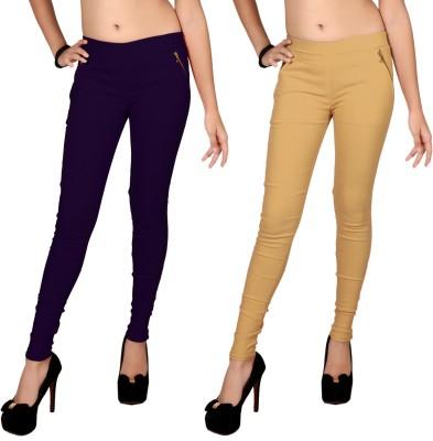 Zea-Al Women's Purple, Beige Jeggings