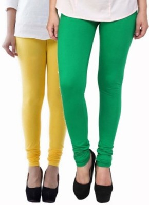 Hirshita Leggingss Women's Yellow, Green Leggings
