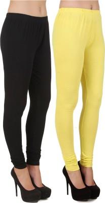 Stylishbae Women's Black, Yellow Leggings