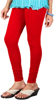 Anshul Textile Women's Red Leggings