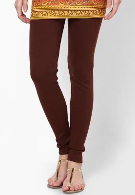Desi Fusion Women's Brown Leggings