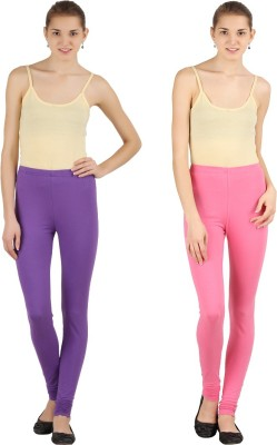 Silvio Women's Pink, Purple Leggings