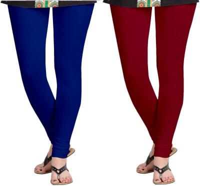 ZACHARIAS Women's Blue, Maroon Leggings