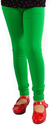 DEVYA FASHION Girl's Dark Green Leggings