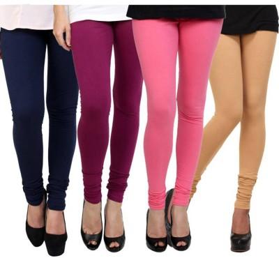 Fashion Zilla Women's Blue, Maroon, Pink, Beige Leggings