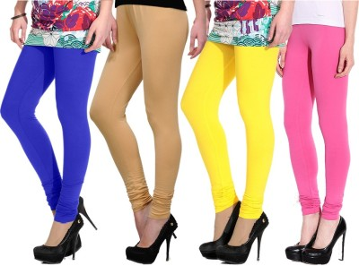 NGT Women's Pink, Blue, Beige, Yellow Leggings