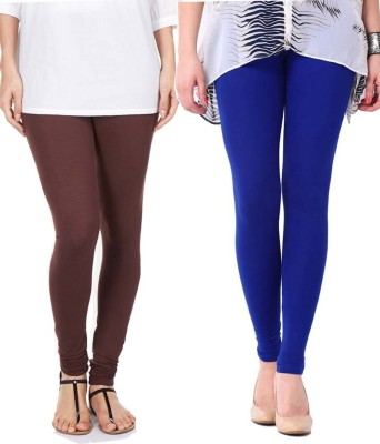 Sampoorna Collection Women's Blue, Brown Leggings
