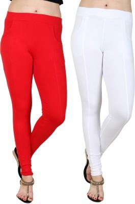 Baremoda Women's Red, White Jeggings