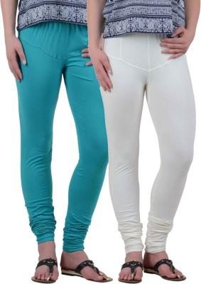 American-Elm Women's Green, White Leggings