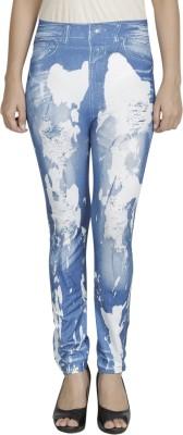 Franclo Women's Blue, White Leggings