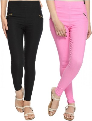 StyloFashionGarments Women's Black, Pink Jeggings