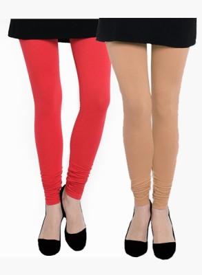 Uzee Women's Red, Beige Leggings