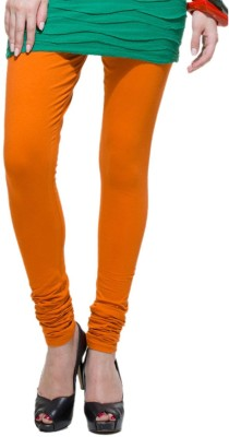 Shri Sai Creation Women's Orange Leggings