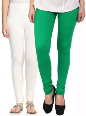 Hirshita Leggingss Women's White, Green Leggings
