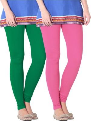 Nice Fit Women's Pink, Green Leggings