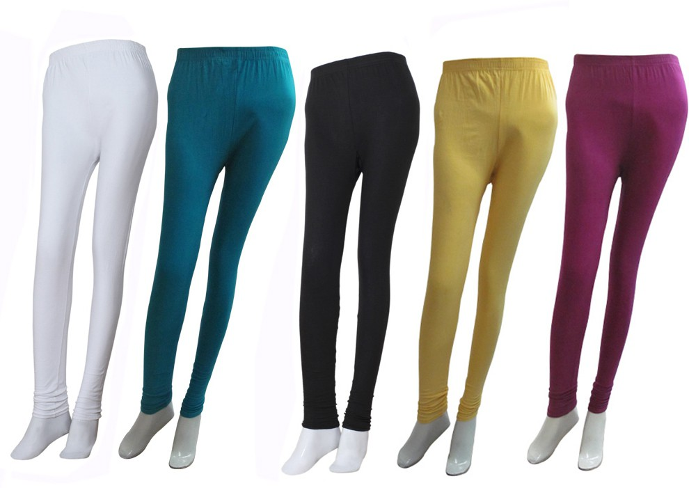 Khi Womens Multicolor Leggings(Pack of 5)