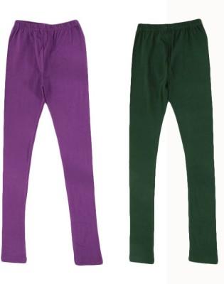 divine creations Women's Purple, Green Leggings