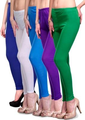 Rowena Women's Blue, White, Light Blue, Purple, Green Leggings