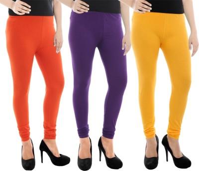 Paulzi Women's Orange, Purple, Yellow Leggings
