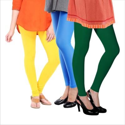 Melisa Women's Yellow, Blue, Green Leggings