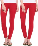 MTL Women's Red Leggings (Pack of 2)