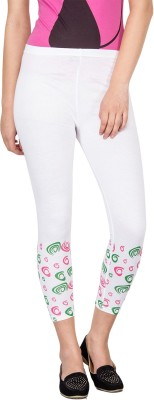Le Bison Women's White Leggings