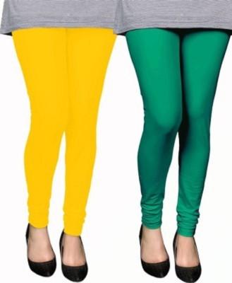 AbsoulteDesi Women's Green, Yellow Leggings